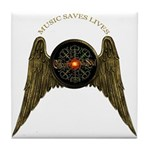 Music Saves Lives - Wings 2 Tile Coaster
