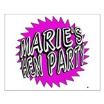 Maries Hen Party Poster Design