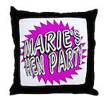 Maries Hen Party Throw Pillow
