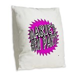 Maries Hen Party Burlap Throw Pillow