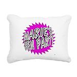 Maries Hen Party Rectangular Canvas Pillow