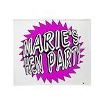 Maries Hen Party Throw Blanket