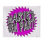 Maries Hen Party Throw Blanket