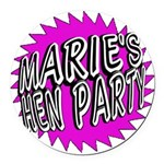 Maries Hen Party Round Car Magnet