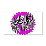 Maries Hen Party Rectangle Car Magnet