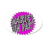 Maries Hen Party Oval Car Magnet