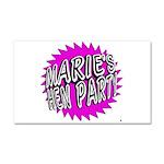 Maries Hen Party Car Magnet 20 x 12