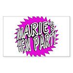 Maries Hen Party Sticker