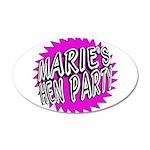 Maries Hen Party Wall Sticker