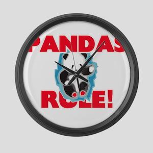 Pandas Rule! Large Wall Clock