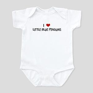 I Love Little Blue Penguins Infant Bodysuit