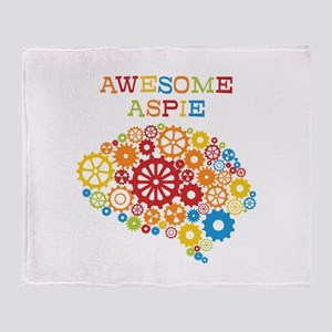 Awesome Aspie Autism Throw Blanket