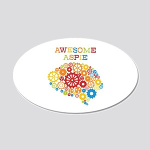 Awesome Aspie Autism 20x12 Oval Wall Decal