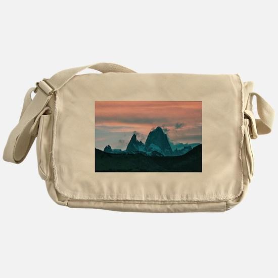Mount Fitz Roy, Patagonia, Argentina Messenger Bag