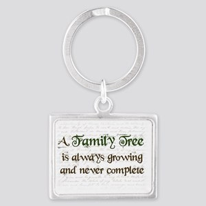 a Family Tree is...  Landscape Keychain