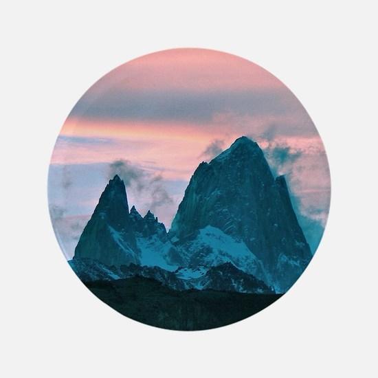 "Mount Fitz Roy, Patagonia, Argentina a 3.5"" Button"