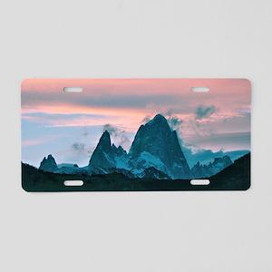 Mount Fitz Roy, Patagonia, Aluminum License Plate