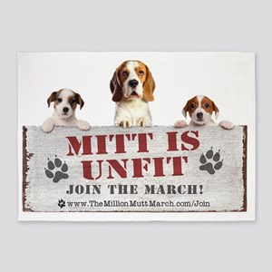 Mitt is Unfit- Lawn sign size 5'x7'Area Rug