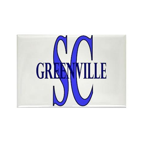 Greenville SC Rectangle Magnet