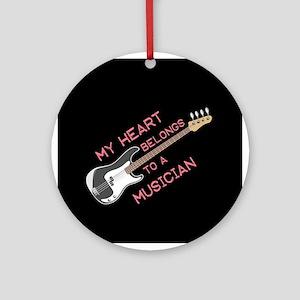 Musician Lover Ornament (Round)