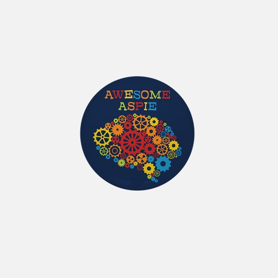 Awesome Aspie Autism Mini Button