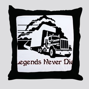 Legends Never Die Throw Pillow