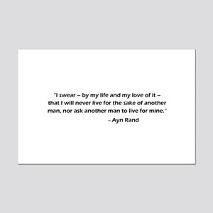 Ayn Rand Quote -  Mini Poster Print