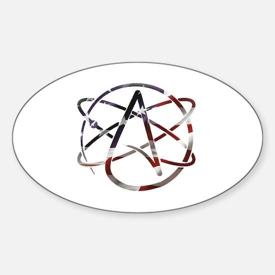 Cute America atheist. Sticker (Oval)