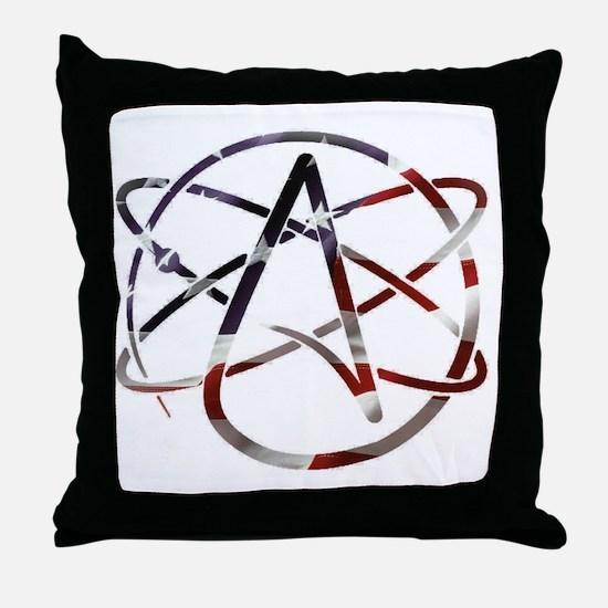Unique Atheist symbol Throw Pillow