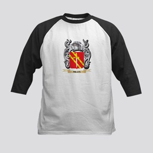 Miles- Coat of Arms - Family Crest Baseball Jersey