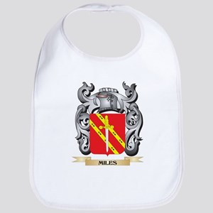 Miles- Coat of Arms - Family Crest Baby Bib