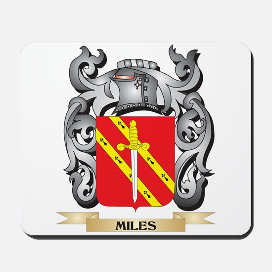 Miles- Coat of Arms - Family Crest Mousepad