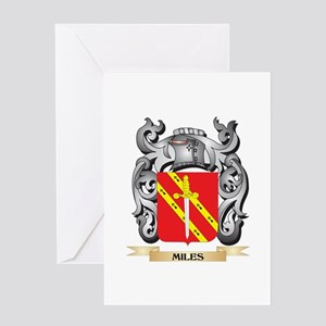 Miles- Coat of Arms - Family Crest Greeting Cards