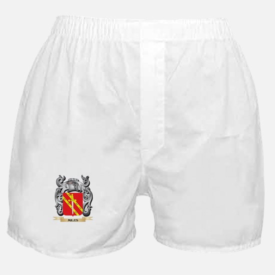 Miles- Coat of Arms - Family Crest Boxer Shorts
