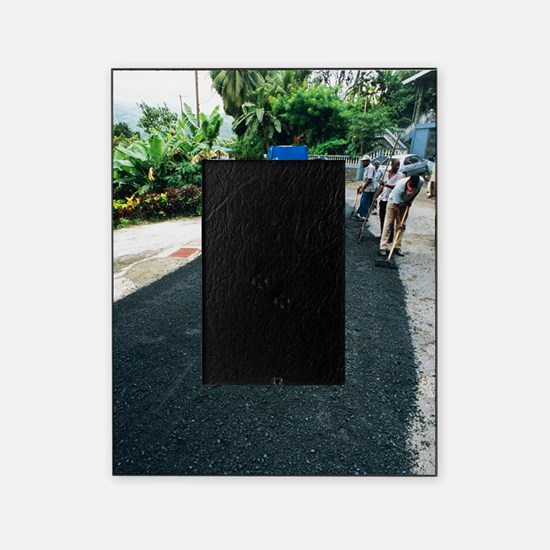 Road construction Picture Frame