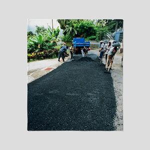 Road construction Throw Blanket