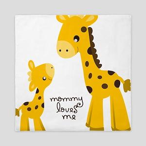Mother and child Giraffe Queen Duvet