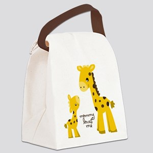 Mother and child Giraffe Canvas Lunch Bag