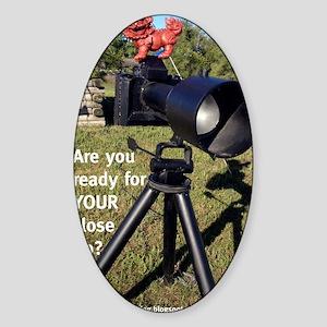 Camera Foo Sticker (Oval)