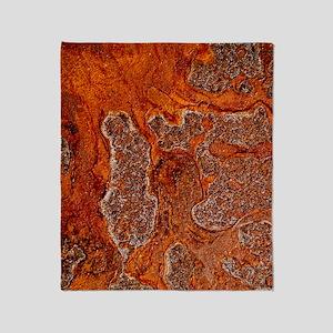 Rust seen on a steel sheet Throw Blanket