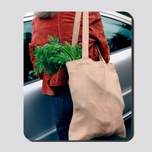 Reusable shopping bag Mousepad