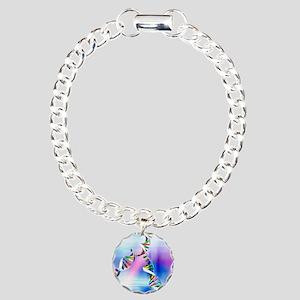 DNA replication Charm Bracelet, One Charm