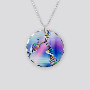 DNA replication Necklace Circle Charm