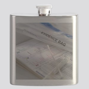 DNA sample and results Flask