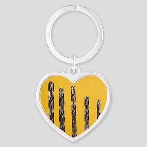 Drill bits Heart Keychain