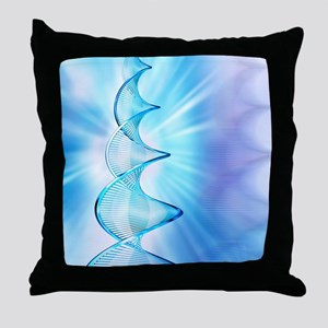 DNA molecule Throw Pillow