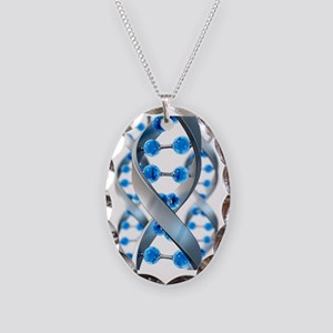DNA structure Necklace Oval Charm