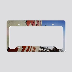 Rocket launchpad License Plate Holder