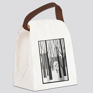 Modernist Urban Winter Ptg Canvas Lunch Bag