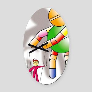 Drug dependency Oval Car Magnet